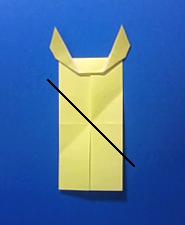 きつねの手紙の折り方9c