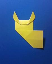 きつねの手紙の折り方9d