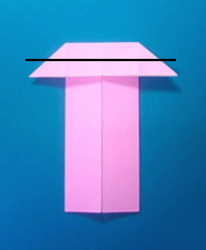 ぶたの手紙の折り方5