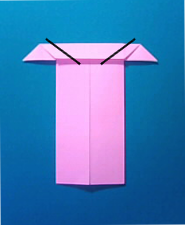 ぶたの手紙の折り方6