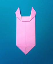 ぶたの手紙の折り方7b