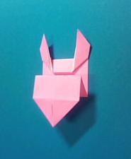ぶたの手紙の折り方8a