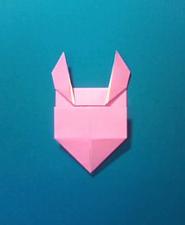 ぶたの手紙の折り方8b
