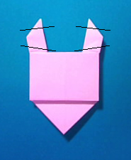 ぶたの手紙の折り方9