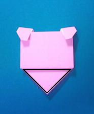 ぶたの手紙の折り方10