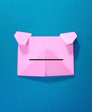 ぶたの手紙の折り方11