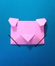 ぶたの手紙の折り方12