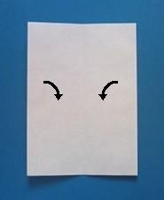 ぶたの手紙の折り方3
