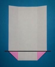 ハート01の手紙の折り方5