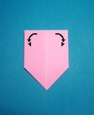 ハート01の手紙の折り方11
