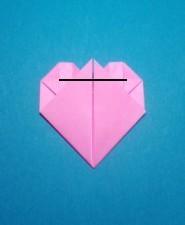 ハート01の手紙の折り方17