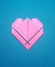 ハート02の手紙の折り方17