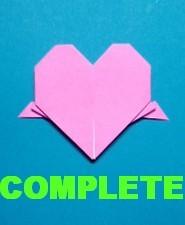 ハート02の手紙の折り方-完成