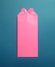 ハートのカードの折り方8