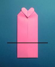 ハートのカードの折り方9