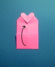 ハートのカードの折り方10