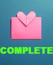ハートのカードの折り方-完成
