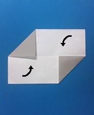 シンプル01の手紙の折り方4