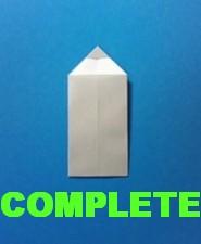えんぴつの手紙の折り方-完成