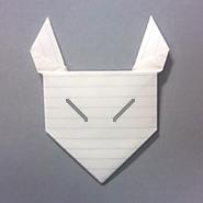 きつねの手紙の折り方