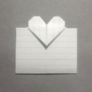 ハートの手紙の折り方