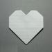 [手紙の折り方]ハート01