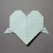 [手紙の折り方]ハート02-羽根付き